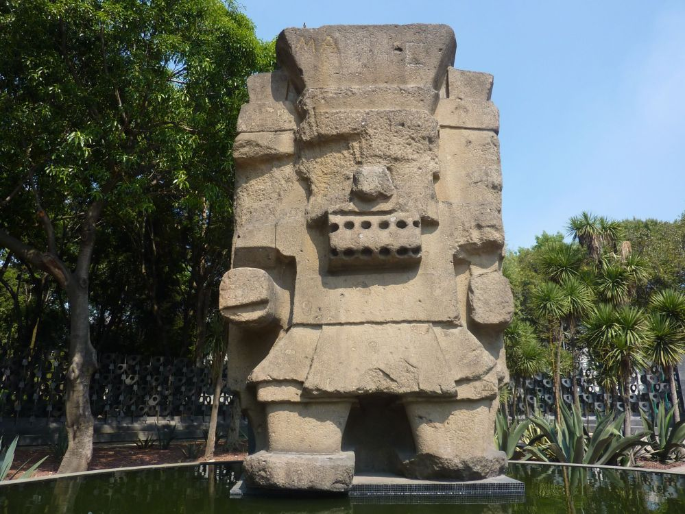 38052518 - statue of tlaloc the aztec rain god