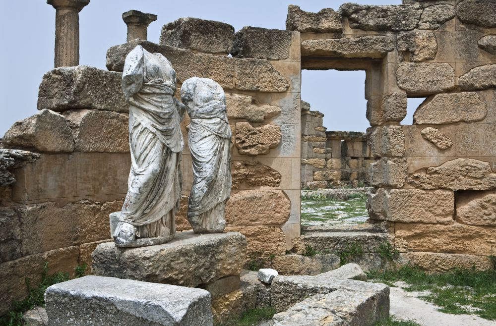 51694532 - libya,archaeological site of cyrene,the demetre temple