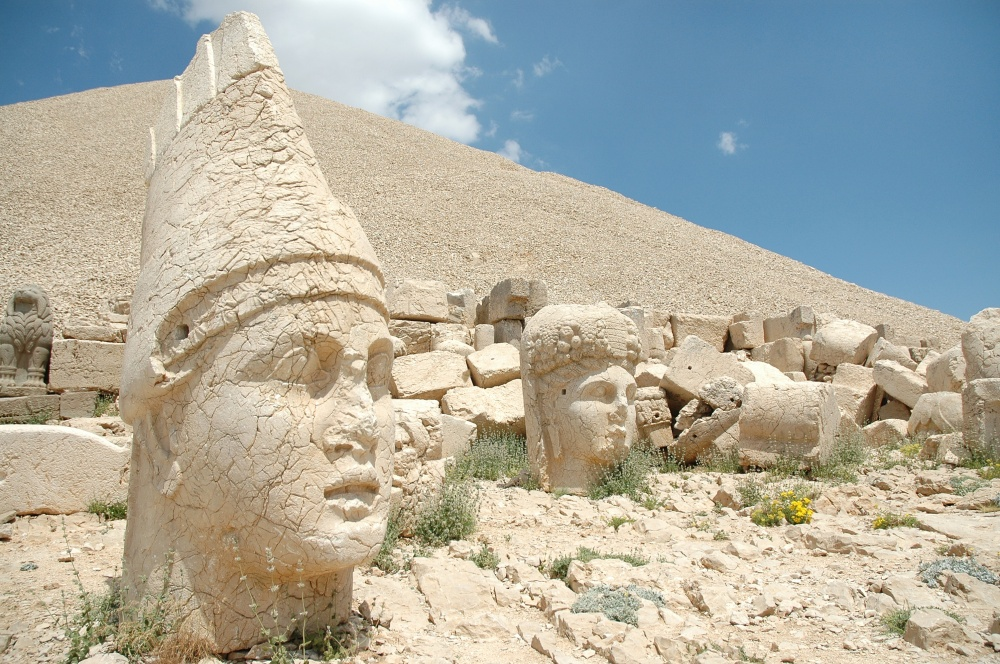 11909693 - monumental god heads on mount nemrut, turkey