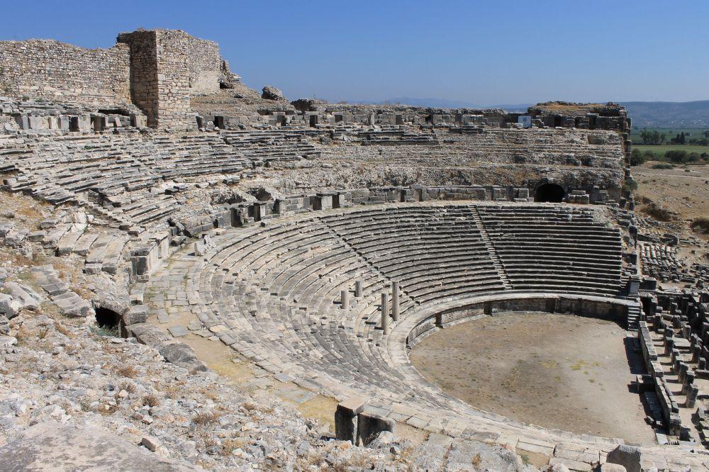 44898995 - miletus ruins of ancient greek city in turkey